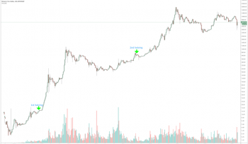 Bitcoin's previous two Halving events