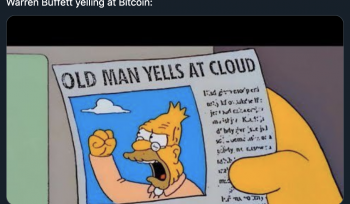 old man yelling at cloud warren buffett